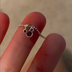 Disney small charm January birthstone necklace